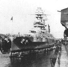 Battleship USS Arizona BB-39 seen at Pearl Harbor, Hawaii, 1934.