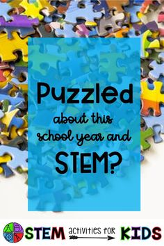 Image may contain: text that says 'Puzzled about this school year and STEM? STEM actiVities fOR KIDS' Science Activities, Activities For Kids, Teaching Tools, Teaching Ideas, Science Stations, Next Generation Science Standards, 21st Century Skills, Stem Science, Stem Challenges