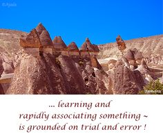 ... #learning and rapidly associating something ~ is grounded on #trial and error !