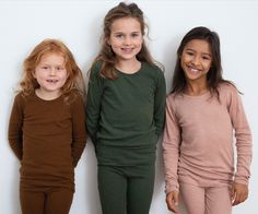 Serendipity Organics loves softness! Each season, we produce new colours of mélange yarns for our ribs, velours, sweats and other knitted textiles. Our classic slim fit t-shirts with long sleeves and leggings in Serendipity organic cotton rib mélange. This seasons colours are vibrant burned caramel, soft clay rose and a deep fall pine green. As always in pure GOTS certified organic cotton. Natural, pure, and sustainable wear is the best choice for our environment, our skin, and our… Season Colors, Kids Wear, Organic Cotton, Cotton Fabric, Kids Outfits, Environment, Dress Up, Trousers, Slim
