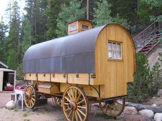 Copper top sheep herder's wagon, the original travel trailer.