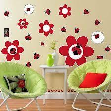 green and red ladybug room