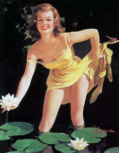 Gil Elvgren by oldcarguy41, via Flickr... Quickly becoming my favorite pinup artists.