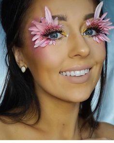 Pin by estrellita vogel on creative ideas in 2019 flower makeup, halloween makeup Rave Makeup, Sfx Makeup, Makeup Art, Beauty Makeup, Exotic Makeup, Cheer Makeup, Makeup Geek, Flower Makeup, Fairy Makeup
