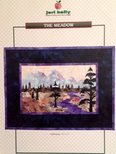 Jeri Kelly Applique Quilting Pattern - The Meadow