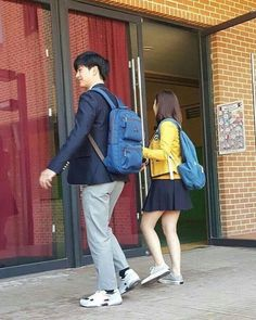 Sungjae and Joy Seen Being Cute Together in School Uniforms