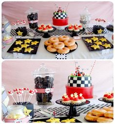 Mario Kart/Vintage race car party....I think my 5 yr old would LOVE this.
