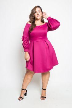 Plus Size Long Sleeve Skater Dress Item