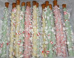 yummy pastel pretzel sticks...