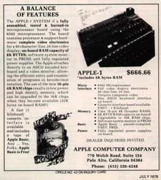 Earliest Apple Ad I've seen. 1970's