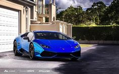 The Lamborghini Huracan was debuted at the 2014 Geneva Motor Show and went into production in the same year. The car Lamborghini's replacement to the Gallardo. The Huracan is available as a coupe and a spyder. Lamborghini Gallardo, Lamborghini Huracan Interior, Blue Lamborghini, Ferrari 488, Automotive Photography, Car Photography, Exotic Sports Cars, Exotic Cars, Super Sport Cars