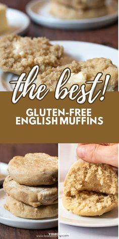 These are the best gluten free English muffins. Only 4 ingredients and you get all of the nooks and crannies! Dairy-free and vegan, free of the top 8 allergens. These English muffins make the best breakfast! Use to make egg McMuffin sandwiches, pizza and more. www.fearlessdining.com Good Gluten Free Bread Recipe, Gluten Free Recipes For Breakfast, Homemade Breakfast, Gluten Free Breakfasts, Quick And Easy Breakfast, Best Breakfast, Healthy Recipes, Gluten Free English Muffins, English Muffin Recipes