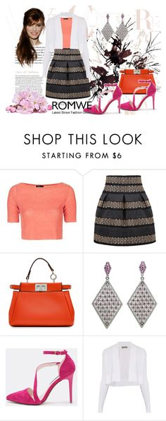"""Romwe 7"" by dinka1-749 ❤ liked on Polyvore featuring Topshop, Fendi and Sportmax"