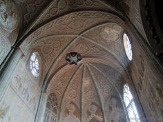 Biella (Italy) - Detail of the ceiling of the Duomo