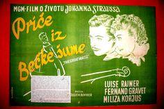GREAT WALTZ 1938 LUISE RAINER JULIEN DUVIVIER J.STRAUSS UNIQUE EXYU MOVIE POSTER
