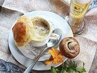 Bier-Pilz-Suppe mit Blätterteighaube, © Bayerischer Brauerbund e.V.