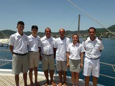 #awesome #crew of #gulet #charter S. Nur Taylan #summer2016 all decked n' ready to #welcome #guests on board