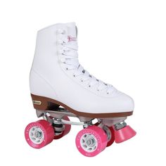 Purchase Chicago Women's Classic Roller Skates – White Rink Skates – Size 7 at Discounted Prices ✓ FREE DELIVERY possible on eligible purchases. Chicago Women's Classic Roller Skates – White Rink Skates – Size 7 Chicago Roller Skates, Best Roller Skates, Quad Skates, Roller Rink, Roller Derby, Roller Skating, White Roller Skates, Outdoor Roller Skates, Sports