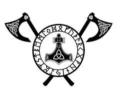 Wikinger Axt Tattoo Vorlage Runenkreis Thors Hammer - Wikinger Axt Tattoo Vorlage Runenkreis Thors Hammer , The Effecti - Viking Rune Tattoo, Norse Tattoo, Viking Tattoo Design, Tribal Tattoos, Maori Tattoos, Tattoo Symbols, Nordic Symbols, Viking Symbols, Thors Hammer Tattoo