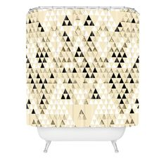 Pattern State Triangle Standard Shower Curtain | DENY Designs Home Accessories