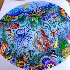 #lostocean #coloring #coloringbook #johannabasford #fabercastell #enchantedforest #secretgarden