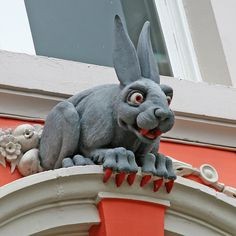 Newcastle, England, Vampire Rabbit. (I have a picture of him, taken years ago, as the background image on my phone!)