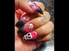 Acrylic Nails Sugar Skull - #acrylicnails #Nailart #nails #sugarskull #halloweennails #halloween - bellashoot.com