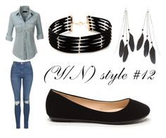 """""""(Y/N) style #12"""" by the-super-cool-muggle ❤ liked on Polyvore featuring LE3NO, Topshop, Forever 21 and Charlotte Russe"""