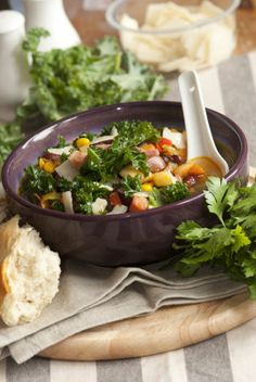 White Bean Soup with Kale and Bacon