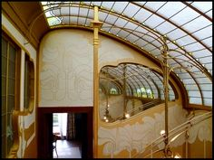 Horta House (now Musee Horta), Brussels, Victor Horta. Art Nouveau. 1901