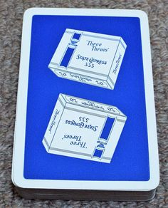 Items similar to Vintage State Express 333 Cigarettes Pack of Alf Cooke Playing Cards - Blue on Etsy 1950s, Playing Cards, Packing, Blue, Etsy, Vintage, Bag Packaging, Cards, Game Cards