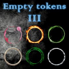 Empty Tokens Pack 3 | A premium selection of all-purpose generic tokens.  https://marketplace.roll20.net/browse/set/886/empty-tokens-pack-3