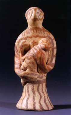 Terracotta figurine of the kourotrophos from Aidonia
