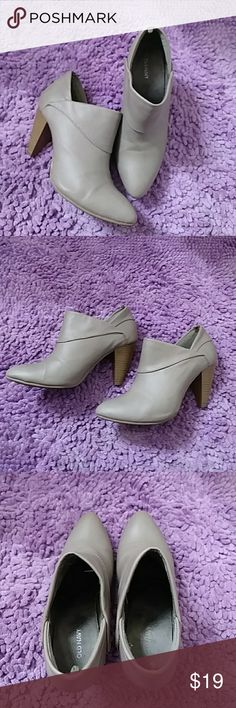 Grey boots Comfortable, easy to walk in, grey booties with 2 inch wooden heel, size 7, hardly worn Old Navy Shoes Ankle Boots & Booties