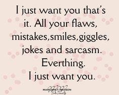 I just want...