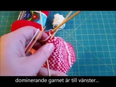 How to knit with 2 colors / Yarn dominance / lankadominanssi / garndominans - YouTube