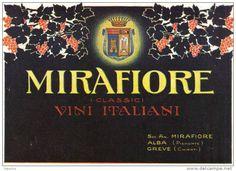 MIRAFIORE I CLASSICI VINI ITALIANI ALBA (PIEMONTE), GREVE (CHIANTI) 1927 PUBBLICITA´ RITAGLIATA DA GIORNALE