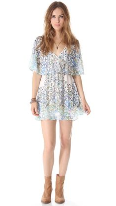 Free People Sparks Fly Cape Dress | SHOPBOP