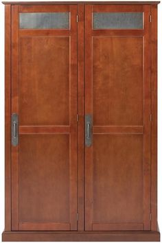 Restoration Industrial Style Hardware Two Door Storage Armoire Locker Cabinet #UrbanIndustrial