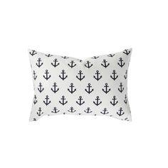 navy anchors pillow