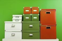 Caixas organizadoras e decorativas.