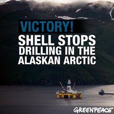 WE DID IT! #boom #shellno #shell #savethearctic #greenpeace #arctic