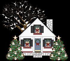 Christmas house Graphic Animated Gif - Graphics christmas house 098813