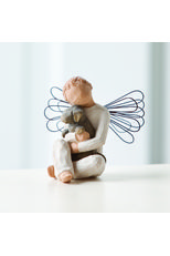 Willow Tree Angel of Comfort Figurine.   Each original #WillowTree #sculpture is hand carved by artist Susan Lordi. Using #family and #friends as models, Susan's goal is to capture a moment in time or express an intimate feeling. Pieces are cast from her original carving and individually painted by hand. Softly washed colors, carved and metal accents, and representative icons of #nature add depth and sentimentality to this beloved line.#Angel #pets