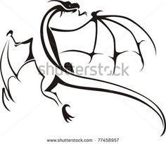 Dragons / Tribal / Symbol - stock vector