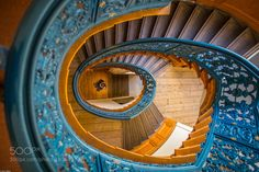 Blue Stairway by HansTibben check out more here https://cleaningexec.com