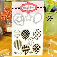 balloons2cut Stamp and Die Set