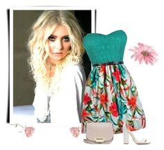 """""""Summer styl"""" by mersy-followme ❤ liked on Polyvore featuring Schutz, ZAC Zac Posen, shoes, dresses and bags"""