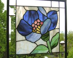 Art Deco Glass Panel | Sorry, this item sold. Have StainedGlassArtist make something just for ...