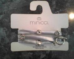 Silver Man-made Leather Bracelet w/ rhinestones    http://yardsellr.com/for_sale/#!/silver-man-made-leather-bracelet-w-rhinestones-4939268